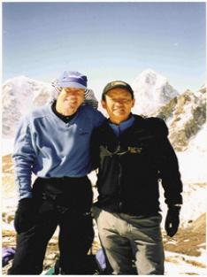 Peter Hillary with Jamling Tenzing on Everest
