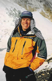 Peter Hillary at Everest Basecamp, 2002.